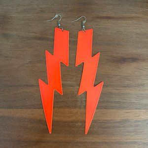 Extreme Statement Lightning Bolt Earrings